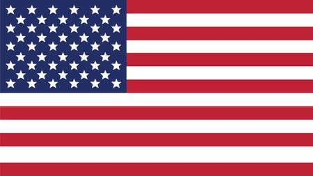 Vereinigte Staaten von amerikanischen Flagge für Independence Day und Infografik Vektor-Illustration. Standard-Bild - 45015262