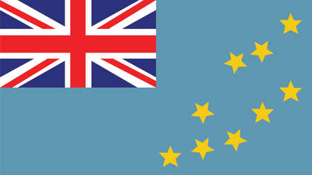 forth: Tuvalu Flag for Independence Day and infographic Vector illustration. Illustration