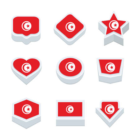 world  hexagon: turkey flags icons and button set nine styles