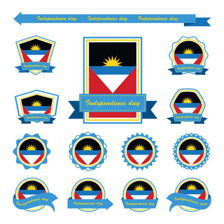 antigua: antigua and barbuda independence day flags infographic design