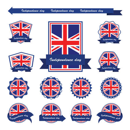 united kingdom: united kingdom independence day flags infographic design