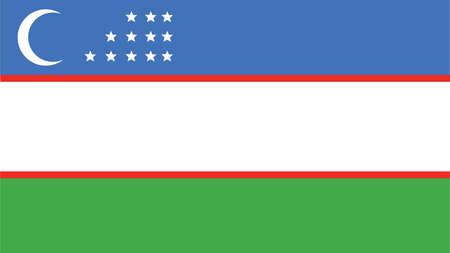 oezbekistan: uzbekistan Flag for Independence Day and infographic Vector illustration.