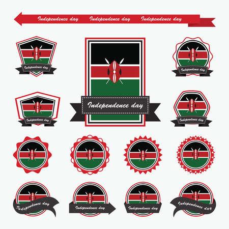 kenya: Kenya independence day flags infographic design