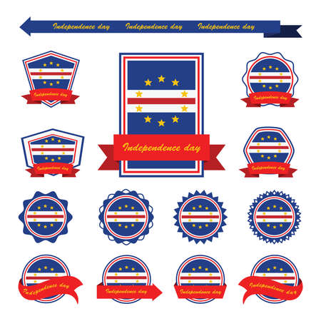 cape verde: cape verde independence day flags infographic design