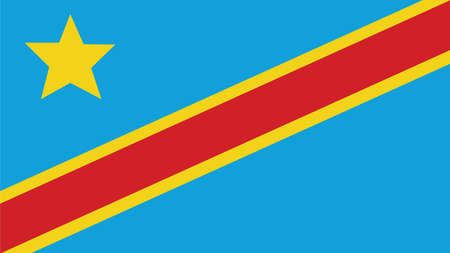 forth: the democratic republic of the congo Flag for Independence Day and infographic Vector illustration. Illustration