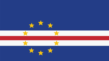 cape verde: cape verde Flag for Independence Day and infographic Vector illustration.