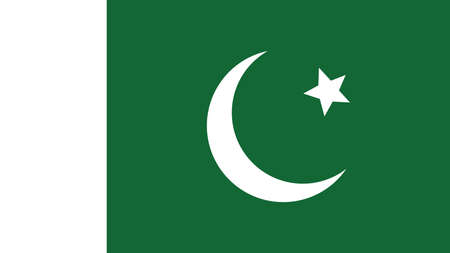 forth: pakistan Flag for Independence Day and infographic Vector illustration.