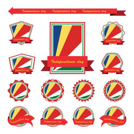 seychelles: seychelles independence day flags infographic design