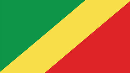 forth: republic of the congo  Flag for Independence Day and infographic Vector illustration. Illustration