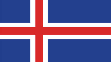 iceland flag: Iceland Flag for Independence Day and infographic Vector illustration.