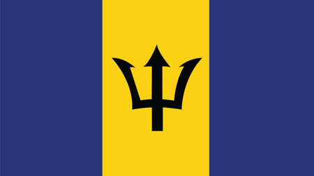 forth: barbados Flag for Independence Day and infographic Vector illustration. Illustration