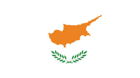 forth: Cyprus Flag for Independence Day and infographic Vector illustration. Illustration
