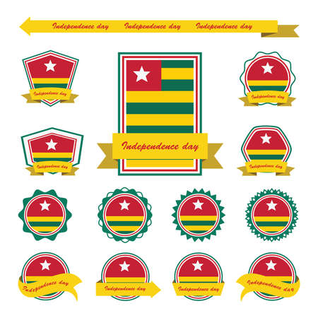 togo: togo independence day flags infographic design