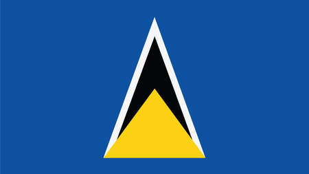 forth: st lucia Flag for Independence Day and infographic Vector illustration.