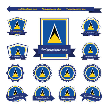 st lucia: st lucia independence day flags infographic design