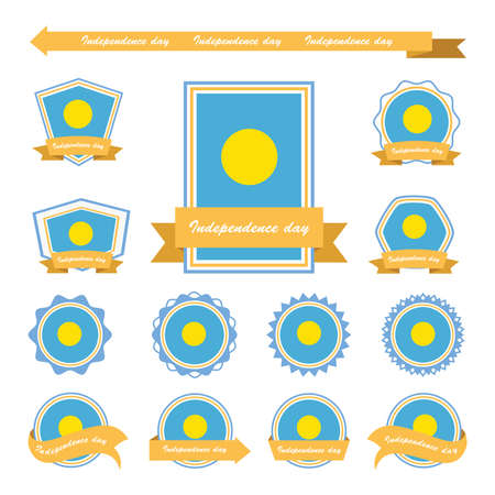 palau: palau independence day flags infographic design