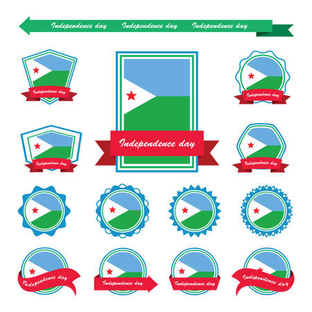 djibouti: djibouti independence day flags infographic design