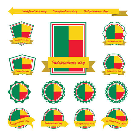 benin: benin independence day flags infographic design