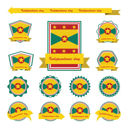 grenada: Grenada independence day flags infographic design
