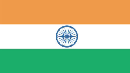 country flags: india Flag for Independence Day and infographic Vector illustration.