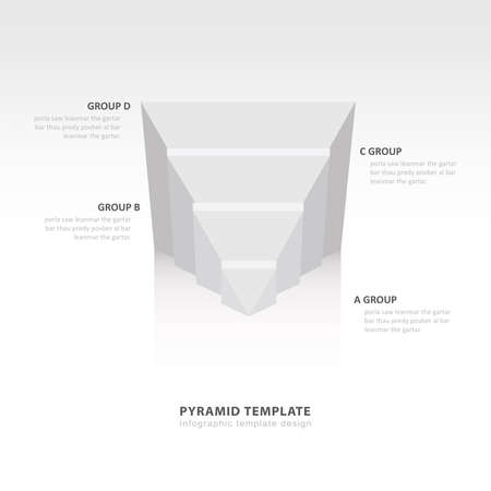 color balance: design pyramid infographic template  white color balance