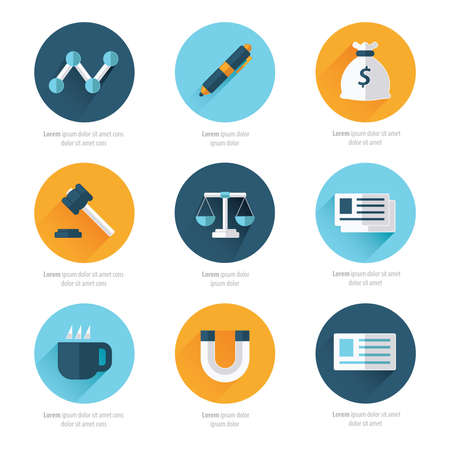 business sign: Modern flat icons vector collection Illustration