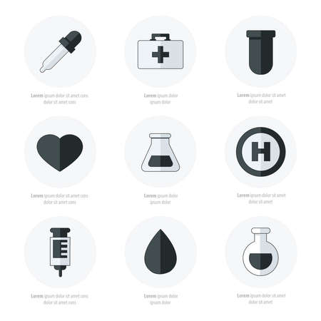cure: medical Flat Icons Design black and white color