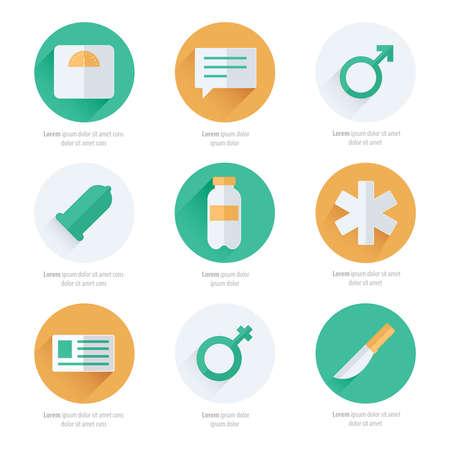 eye bandage: medical Flat Icons Vector Design