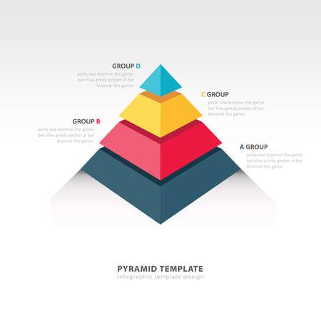 ピラミッド インフォ グラフィック テンプレート  イラスト・ベクター素材