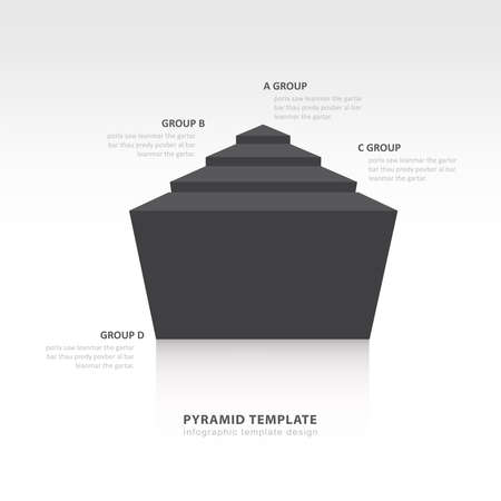 color balance: pyramid infographic template design  black color balance