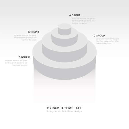 color balance: Cylinder infographic template  white color balance
