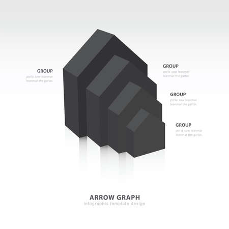 color balance: infographic and presentation template black color balance Illustration
