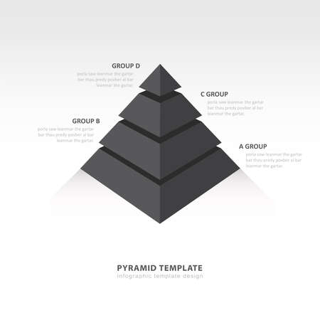 color balance: pyramid  infographic template black color balance Illustration