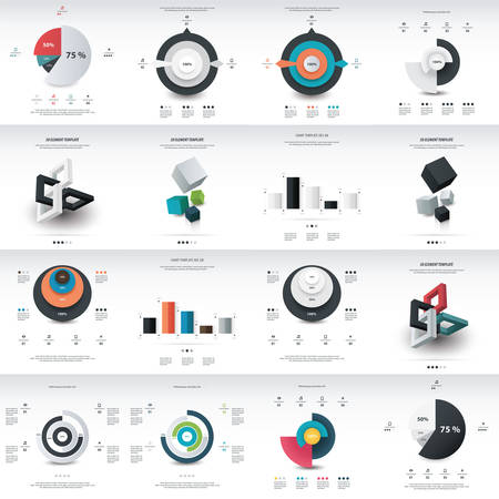 phonographic: chart infographics template design