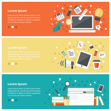 retraining: Flat design concepts for online education,online training courses, staff training, retraining, specialization, university, tutorials. Concepts for web banners and promotional materials.
