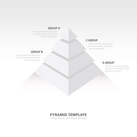 color balance: pyramid  infographic template white color balance
