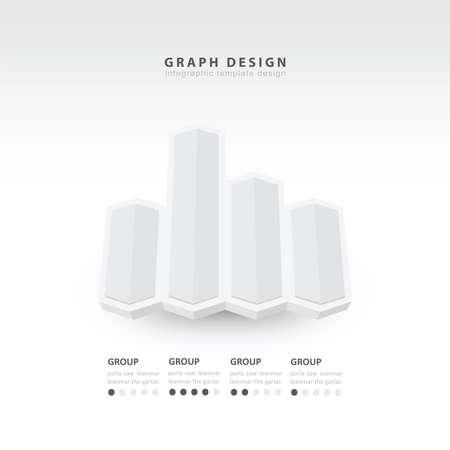 color balance: 3d arrow infographics white color balance