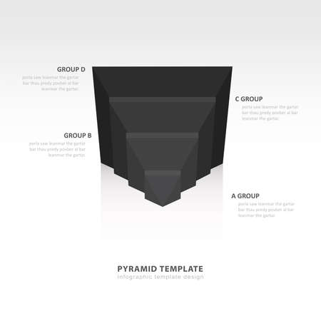 color balance: design pyramid infographic template  black color balance Illustration