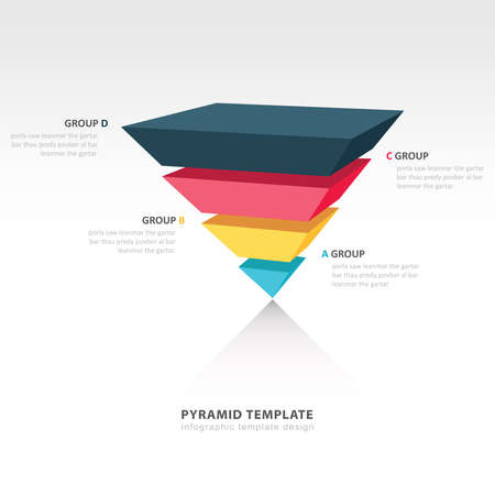 upside: pyramid upside down infographic template