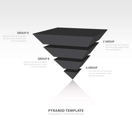 color balance: pyramid upside down infographic template black color balance Illustration