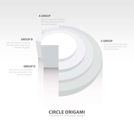 color balance: Business Infographics circle origami style white color balance Illustration
