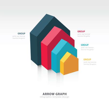grafica de barras: plantilla de infografía y presentación