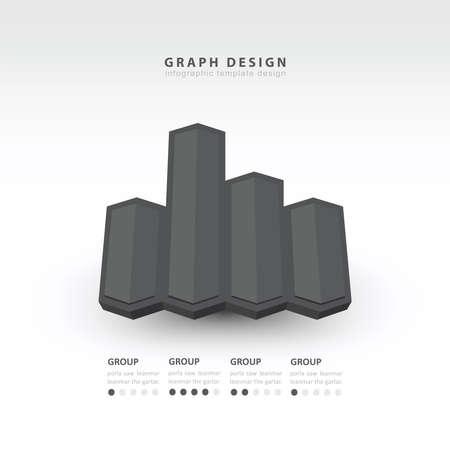 color balance: 3d arrow infographics black color balance