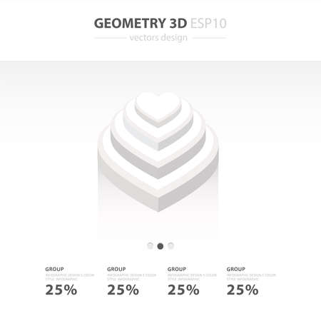 white color: Star Icons Infographic template white color Illustration