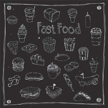 jamon y queso: Fast food dibujan 25 artículo