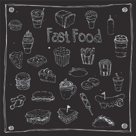 comida rapida: Fast food dibujan 25 artículo