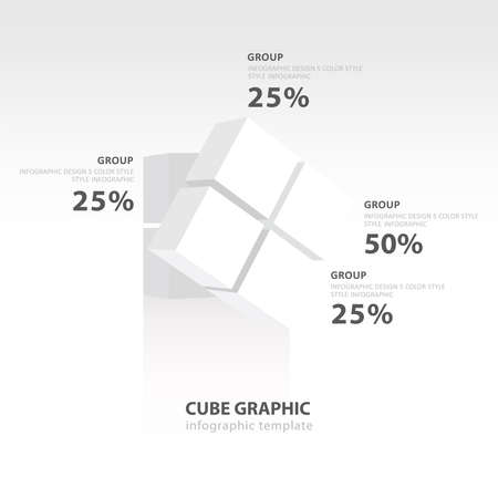 color balance: rotate cube infographic template   white color balance