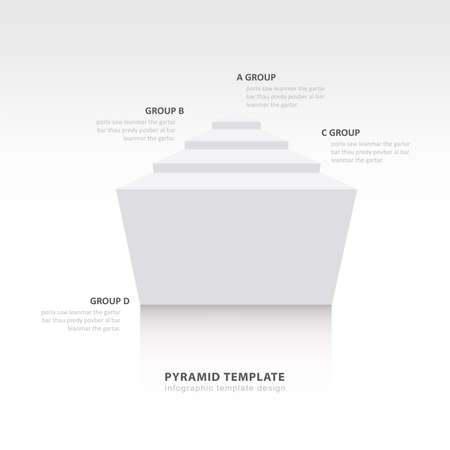 color balance: pyramid infographic template design  white color balance Illustration