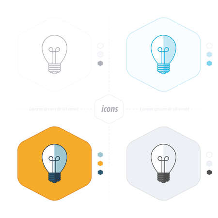 scriibble: Light bulb vector icon 4 design Illustration