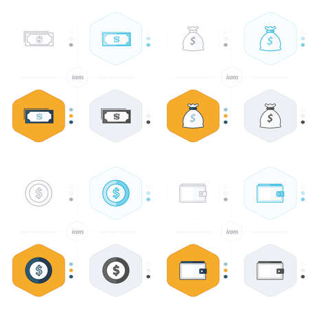 pouch: pouch, Money bag, money, coin icons